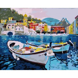 PAINT BY NUMBERS KIT SILENT COAST T40500104 Framed