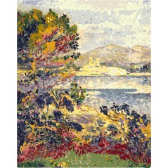 PAINT BY NUMBERS KIT ANTIBES, MORNING EDMUND CROSS 50X40 CM T50400172 Framed