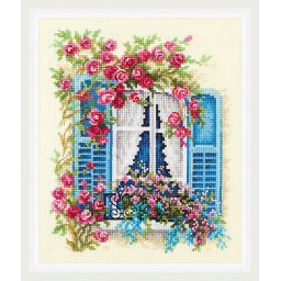 Cross Stitch Kit Blossoming Window art. 74-01
