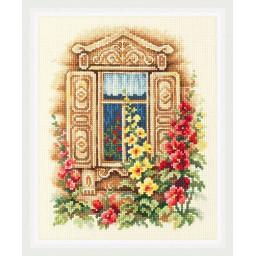 Cross Stitch Kit Lovely Window art. 74-02