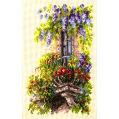 Cross Stitch Kit Blossoming balcony art. 74-05