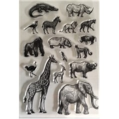 1 pc stamp Clear Stamp Animal for Scrapbooking Transparent Silicone Rubber