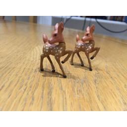 2 pcs Artificial mini sika deer fairy garden miniatures gnomes moss terrarium 3