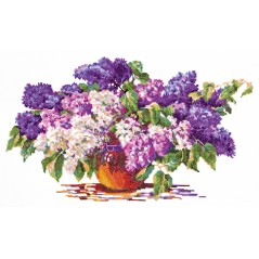 Cross Stitch Kit Bouquet Lilac art. 40-28