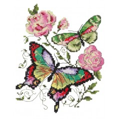 Cross stitch kit Butterflies and roses art. 42-04