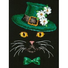 Cross Stitch kit Cat with hat art. 80-11