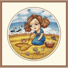 Cross Stitch Kit ALISA AT THE SEA art. 872