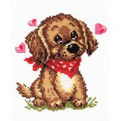 Cross Stitch Kit I dream of you (dog) art. 16-09