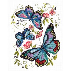 Cross Stitch Kit Blue butterfly art. 42-03