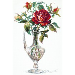 Cross Stitch Kit Red Rose art. 40-65
