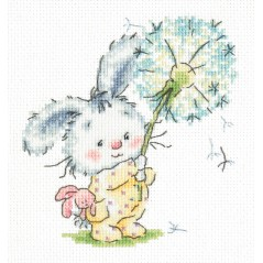Cross Stitch Kit Bunny and dandelion art. 19-06
