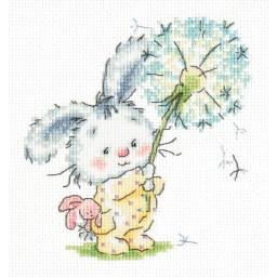 Cross Stitch Kit Bunny and dandelion art. 19-06