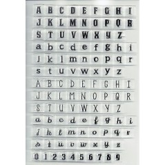Alphabet Clear Stamps for Scrapbooking DIY Silicone Seals Card Children Toys Handmade Cards Decoration Stamp