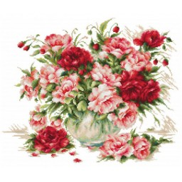 Cross Stitch Kit Peonies B2288