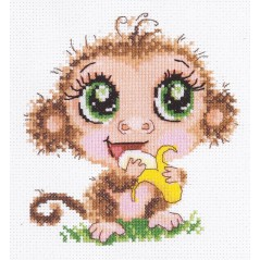 Cross Stitch Kit Baby monkey art. 19-04