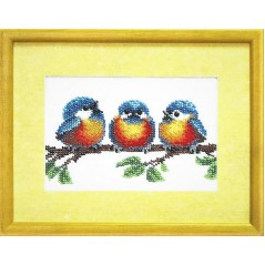 Bead embroidery kit Birds B-044