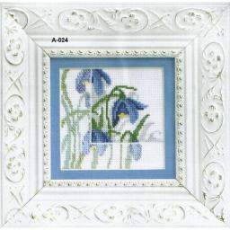 Cross Stitch Chart Blue flowers 2 PDF Pattern
