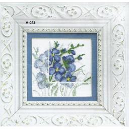 Cross Stitch Chart Blue flowers 1 PDF Pattern