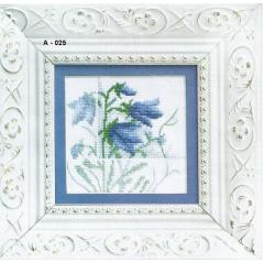 Cross Stitch Chart Blue flowers 3 PDF Pattern
