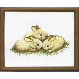 Cross Stitch Kit Bunnies A-039