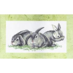 Cross Stitch Chart Bunnies PDF Pattern