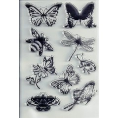Summer Transparent Silicone Stamps Sheet Cling Scrapbooking DIY Stamp