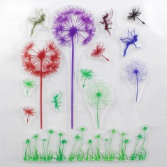 1 Pc Clear Rubber Stamp Mulitcolor Dandelion Transparent Stamp DIY Scrapbooking