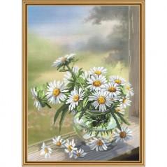 Cross Stitch Kit Chamomile flower CP3214