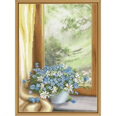 Cross Stitch Kit Floral fantasy CP3215