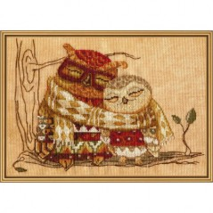 Cross Stitch Kit Family warmth (owl) CP4221-Y