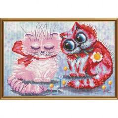 Cross Stitch Kit Let's make it up (cat) CP5188