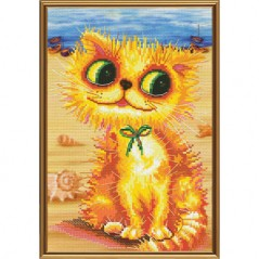 Cross Stitch Kit Goldy at the seaside (cat) CP5189