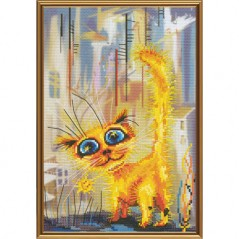 Cross Stitch Kit Red rowdy (cat) CP5192