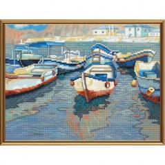 Cross Stitch Kit Boat whart CB4079