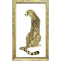Bead embroidery kit Cheetah B-054