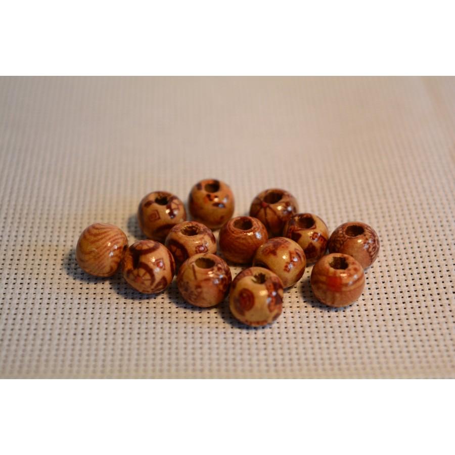 30 Pcs Wood Painting Beads Diy Arts And Crafts Supplies