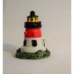 1 Pcs Mini artificial Lighthouse Micro fairy garden figurine miniature