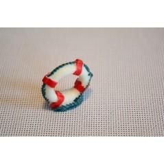 1PCS Mini Resin Swim Ring Model Fairy Garden Miniatures Micro Landscape Decor DIY Terrarium Figurines Succulents Accessories