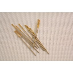 10 pcs Golden Tail Embroidery Fabric Cross Stitch Needles Size 22 For 9CT Stitch Cloth Sewing Kit