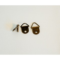 10 Pcs Bronze Tone (not with screws) Photo Frame tied Metal Hooks 1 Holes 2.1cmx1.3cm art. 35