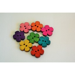 10 Pcs Mixed Flower Sewing Wooden Buttons For Children Clothes Decorative Button Crafts Scrapbooking Accessories 19x18mm art. 311