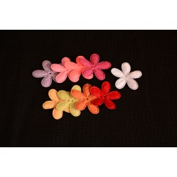 24 pcs 26*26mm Flower pattern Felt Cloth Fabric For DIY Kids Room Home Wall