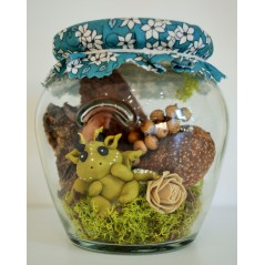 Fairy Wish Jars Fairy Baby dragon medium size