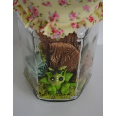 Fairy Wish Jars Fairy Baby dragon large size