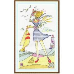 Cross Stitch Kit Fairy of Seaside Memories VK-0790