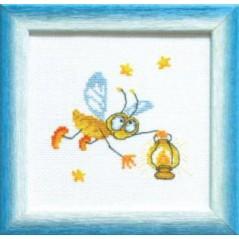 Cross Stitch Chart Firefly PDF Pattern