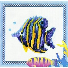 Bead embroidery kit Fish B-009