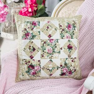 Patchwork kit Fragrance of flowers Pillow PLW-0120