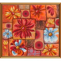 Cross Stitch Kit Flower mosaic HHD3066