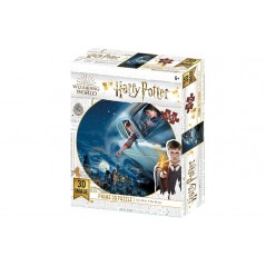 HARRY POTTER / FORD ANGLIA OVER HOGWARTS PRIME 3D PUZZLE 300 PIECES